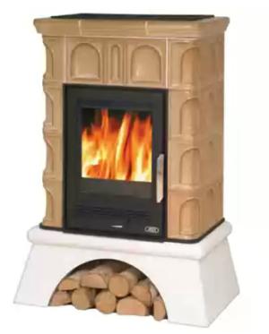 Изразцовая печь ABX Britania K с т/о (белый цоколь)