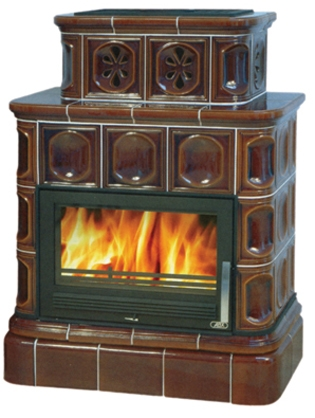 Изразцовая печь ABX Karelie (кафельный цоколь)