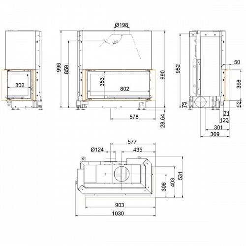 Architektur Kamin Eck 38 86 36 right