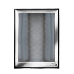 Дверца каминная 9033U, со стеклом, хром (Aito)