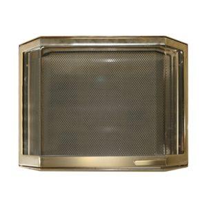 Дверца каминная 9046U, со стеклом, золото (Aito)