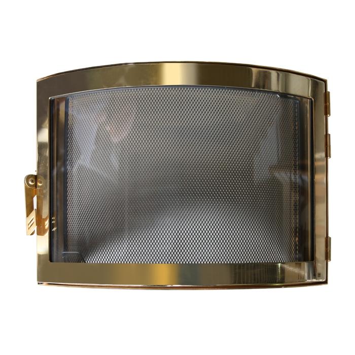 Дверца каминная 9056, со стеклом, золото (Aito)