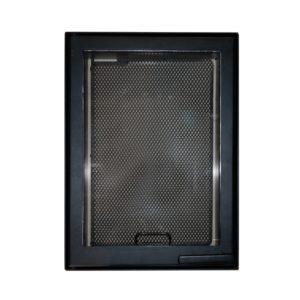 Дверца каминная 9064U, со стеклом, черный (Aito)