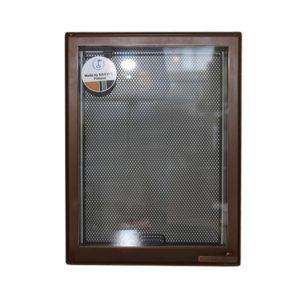 Дверца каминная 9072K, со стеклом, медь (Aito)