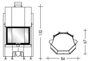 Топка Airfire guillotina prisma N (EdilKamin)