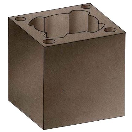 Бетонный блок, 48х48 (Hart)