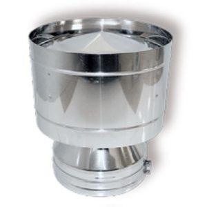 Дефлектор DDH на трубу D130 с изол.50мм, нерж321/нерж321 (Вулкан)