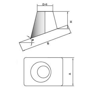 Кровельный элемент DKH 0° на трубу D104 с изол.50мм, нерж304 (Вулкан)