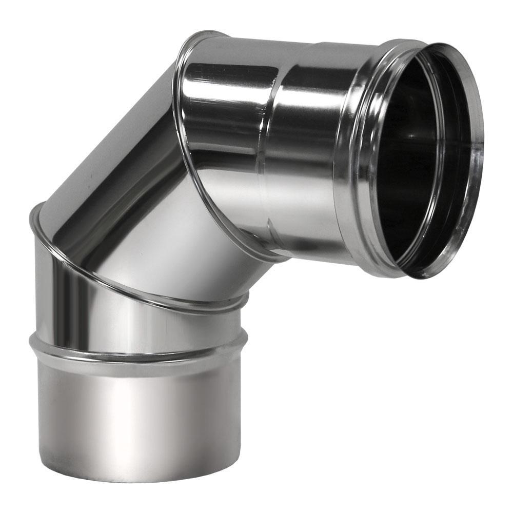 Отвод 90° D104 без изоляции, зеркальный (Вулкан)