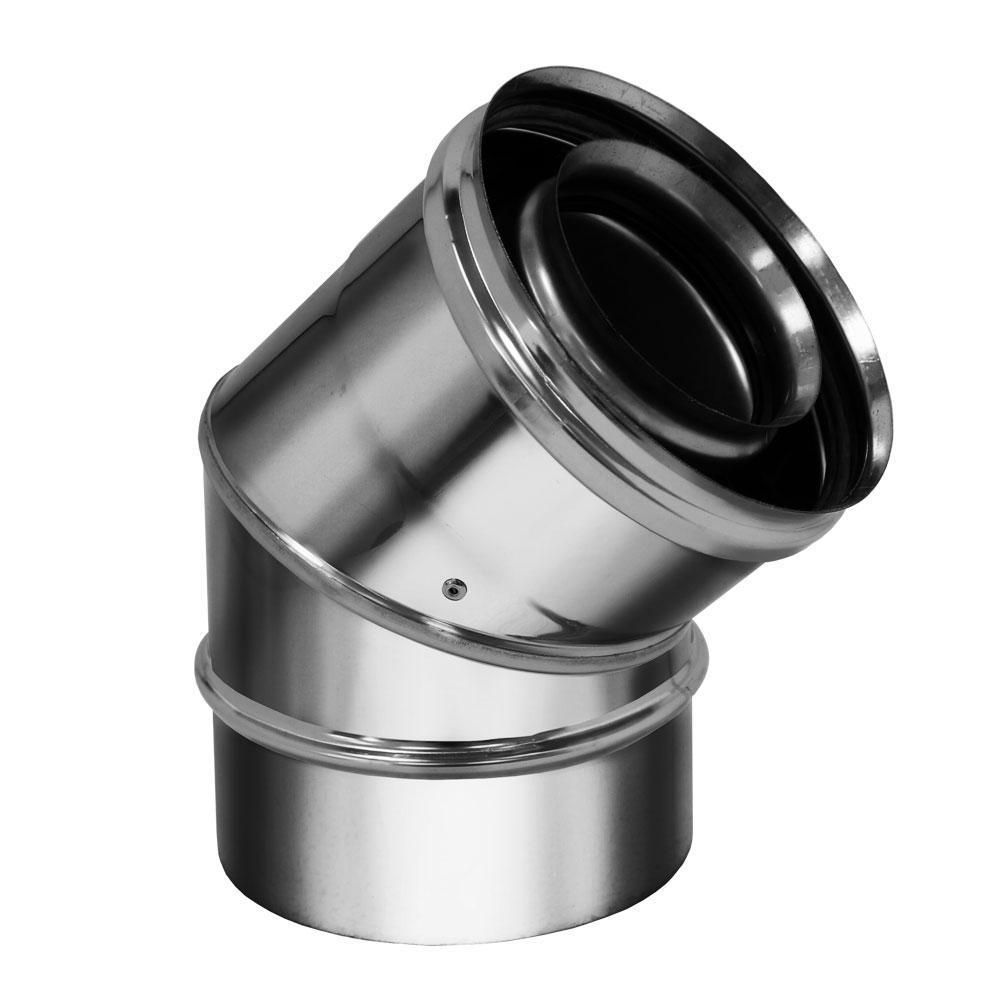 Отвод коаксиальный 45° D80/130 (Вулкан)
