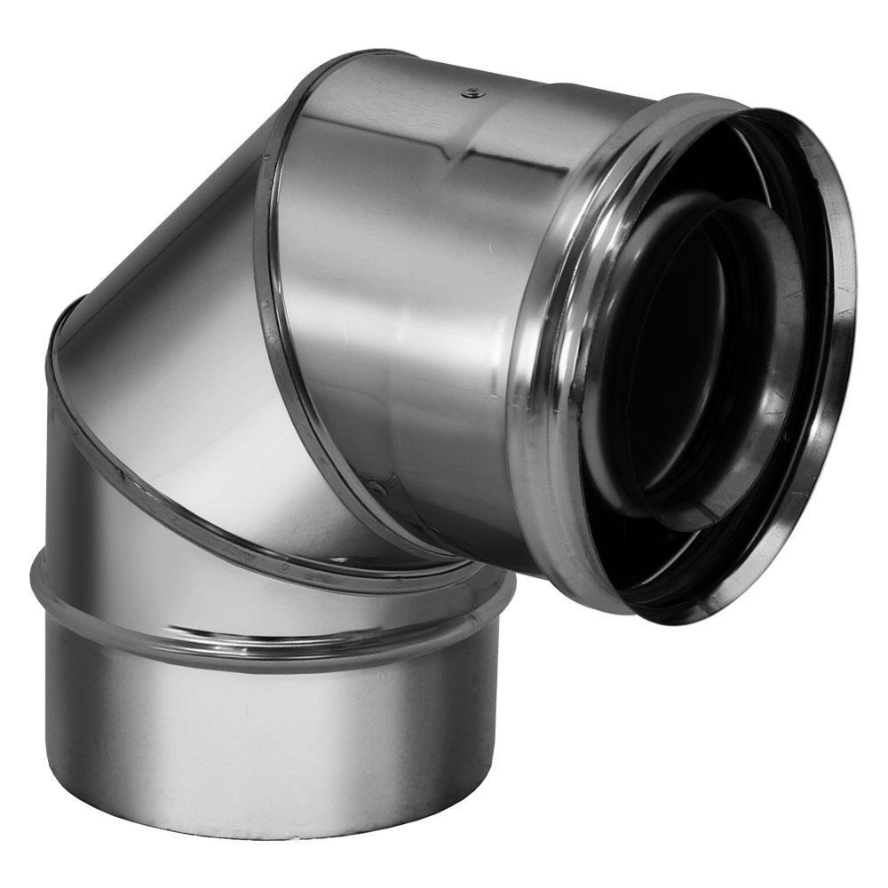 Отвод 90° без изоляции D80/130 (Вулкан)