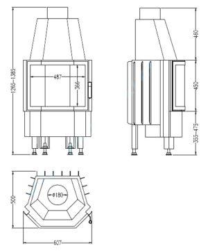 Топка 800/45 K T1 (Hark)