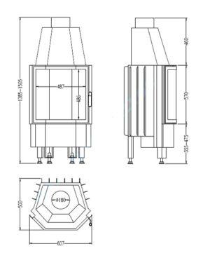 Топка 800/57 K T1 (Hark)