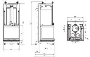 Топка Ecomonoblocco S66 3D (Palazzetti)