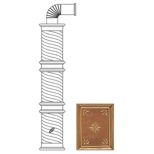 Колонна керам. 126см, цвет L6, honey (Sergio Leoni)