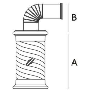 Колонна керам. 43см, цвет L3, cella (Sergio Leoni)