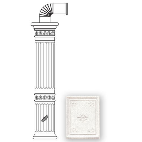 Колонна керам. 121,5см, цвет L1, white (Sergio Leoni)