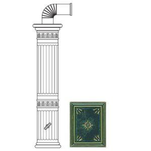 Колонна керам. 121,5см, цвет L4, green (Sergio Leoni)