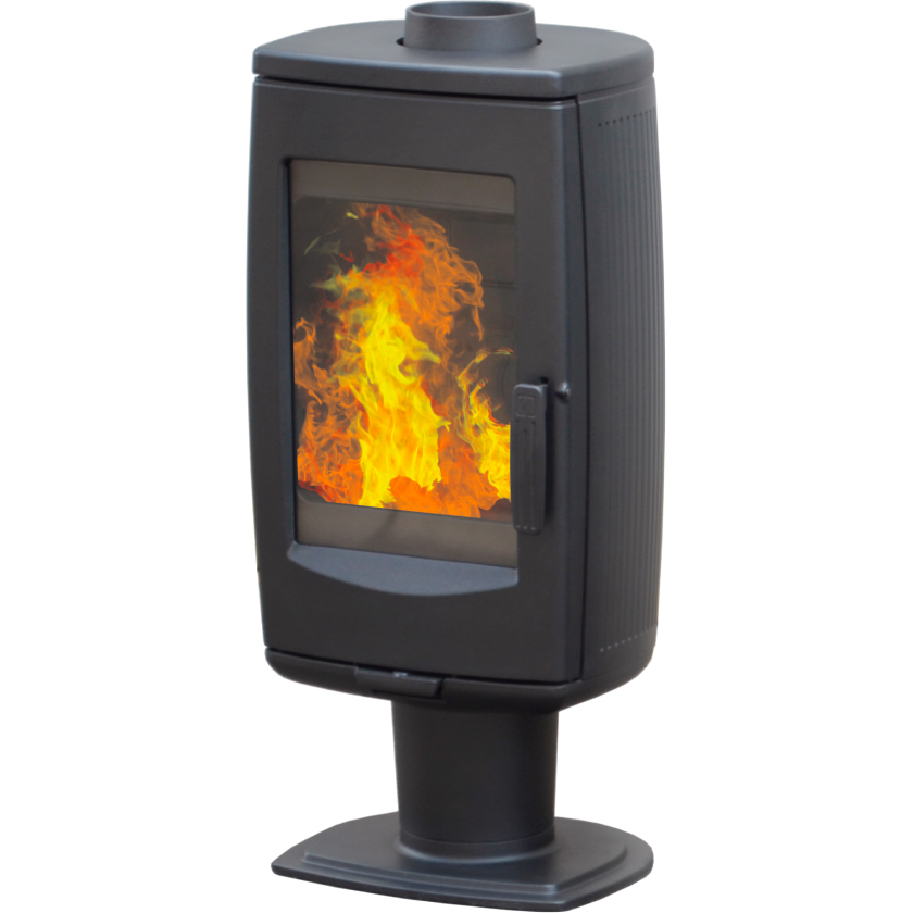 Печь ARIA, черная (Plamen)